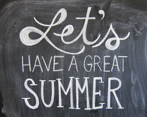Great Summer Message Graphic