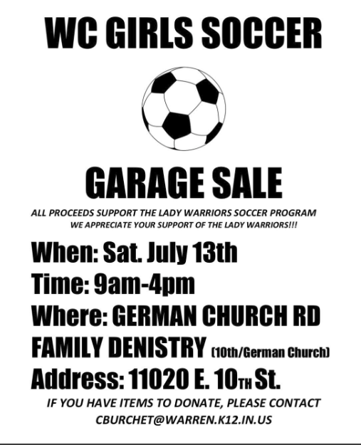 WC Soccer Sale Flyer