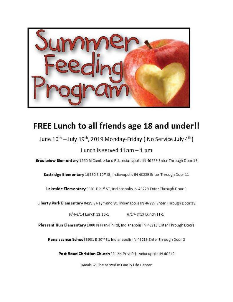 Summer Feedings Program Flyer