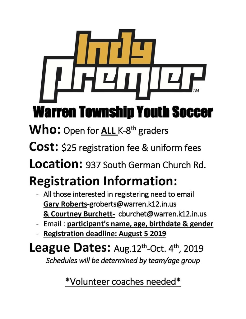 Soccer Registration Flyer
