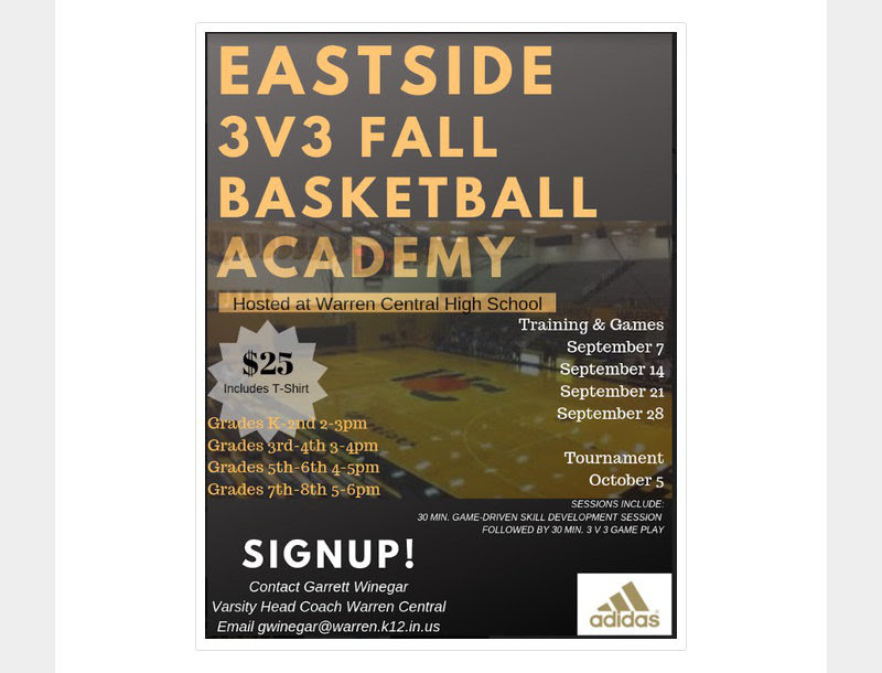 3V3 Fall Basketball Flyer