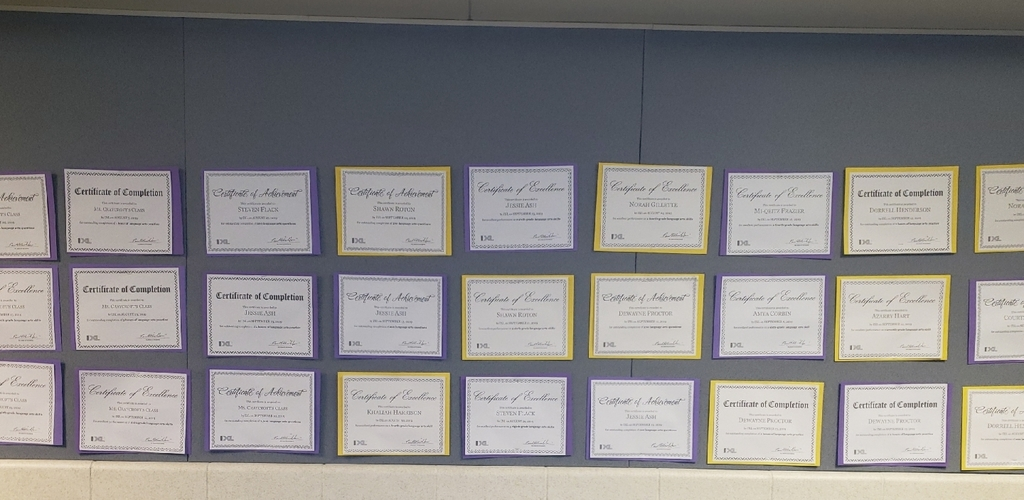 certificates of excellence
