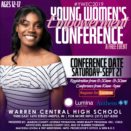 2019 Young Women's Empowerment Flyer