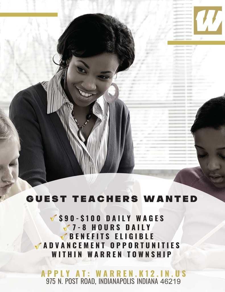 Warren Township Guest Teacher Flyer