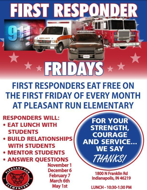 First Responder Fridays Flyer
