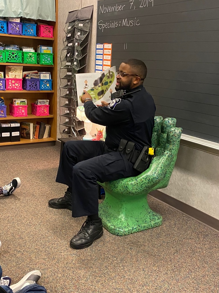 Office Speaks reads at Brookview Elementary