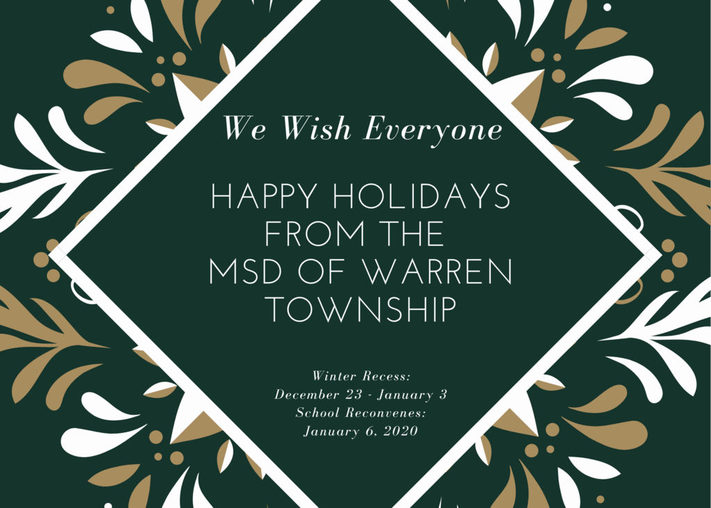 Holiday Message 2019