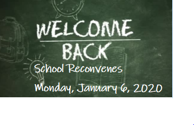Welcome Back January 6, 2020
