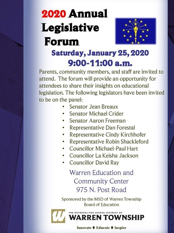Legislative Forum Flyer