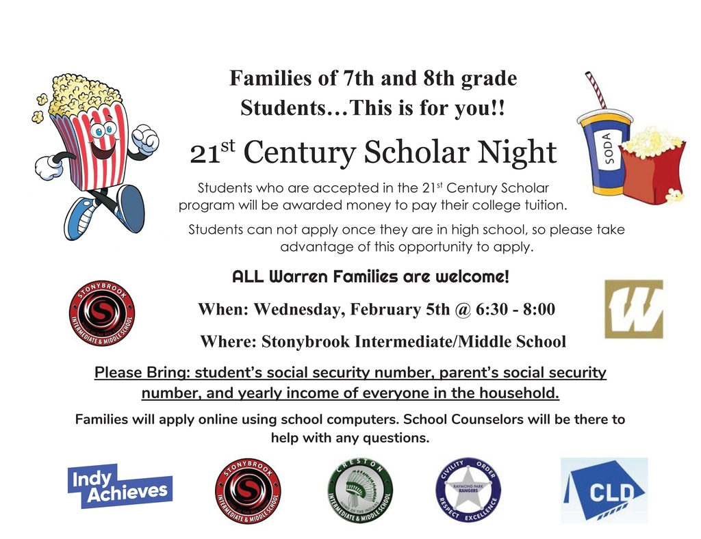 21st Century Scholar Night Flyer