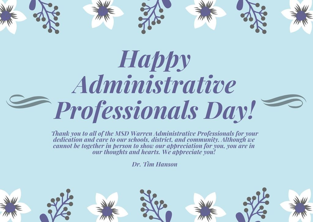 Happy Administrative Professionals