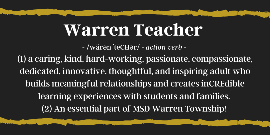 Warren Teacher Definition
