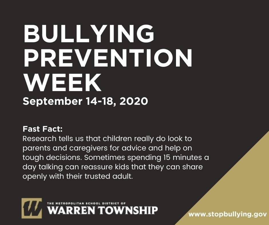 Bullying Prevention Week September 14-18, 2020