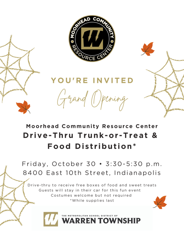 Moorhead Community Resource Center Trunk-Or-Treat and Food Distribution  Event