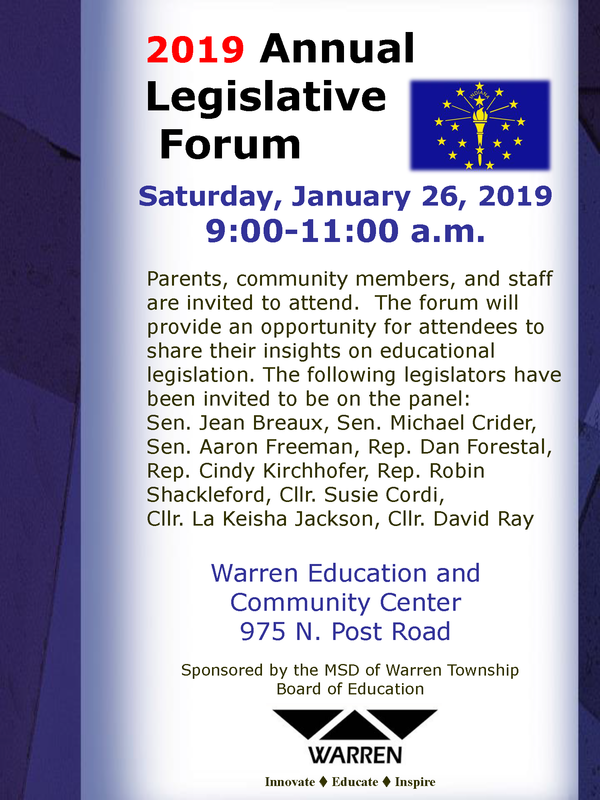 Legislative Forum Flyer Image