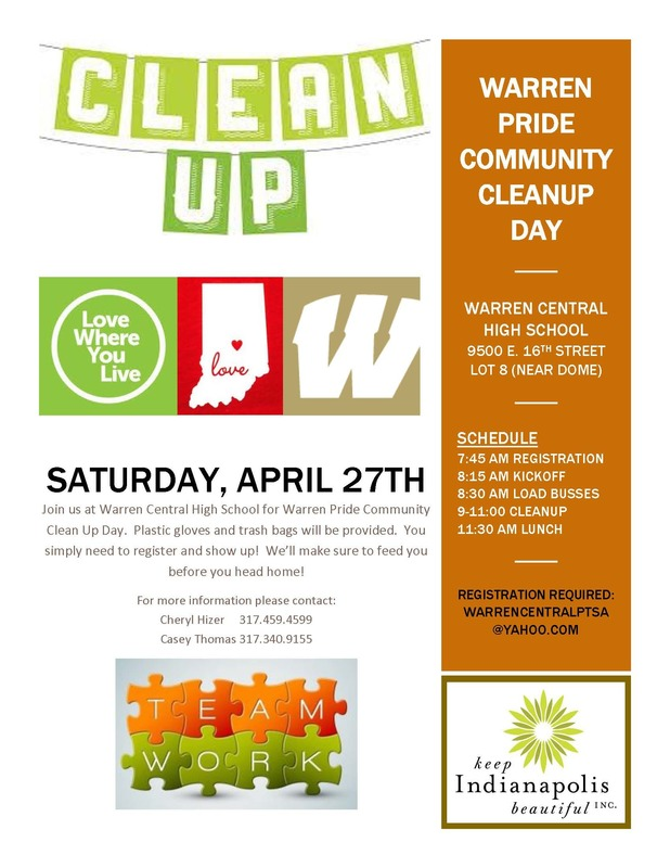 Warren Pride Cleanup Day Flyer