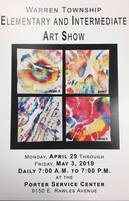 K-6 Warren Township Art Show 2019