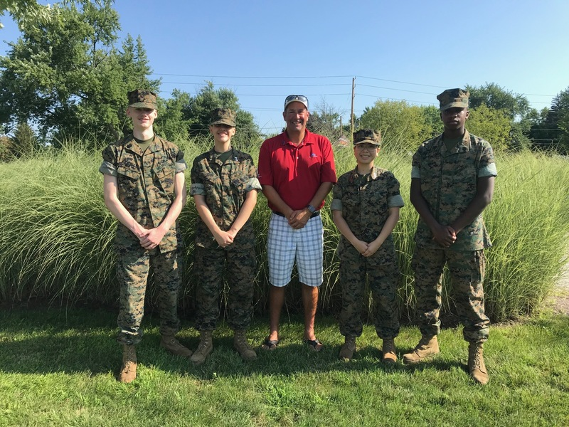 MCJROTC Cadets and David Sinner